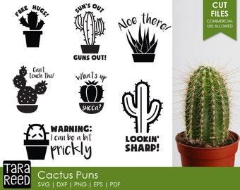 Cactus Pun - Cactus SVG and Cut Files for Crafters