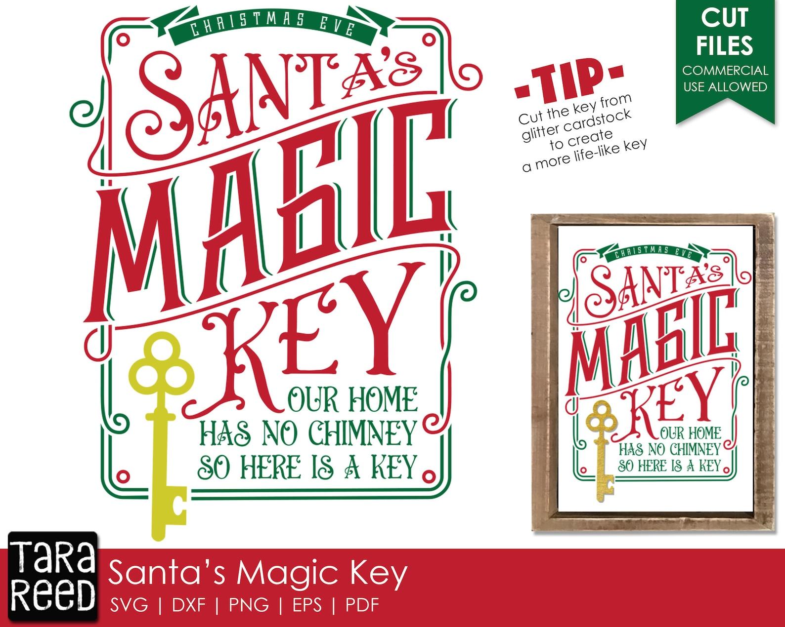 3D Santa's Magic Key Layered Paper Cut Design by Tara Reed