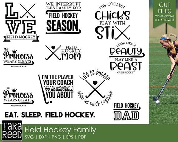 Field Hockey SVG and Cut Files for Crafters