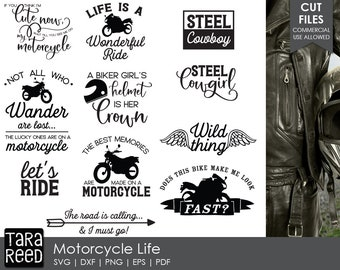 motorcycle svg / biker svg / biker chic svg / svg files / svg bundle / svg for cricut / svg for silhouette / motorcycle life