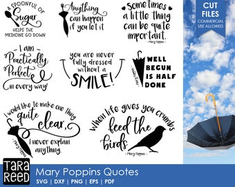 Mary Poppins svg / Mary Poppins quotes / svg files / svg for Cricut / svg for Silhouette / svg bundle / quote svg bundle