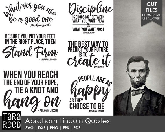Lincoln Quotes Mesmerizing Abraham Lincoln Quotes SVG And Cut Files For Crafters Etsy