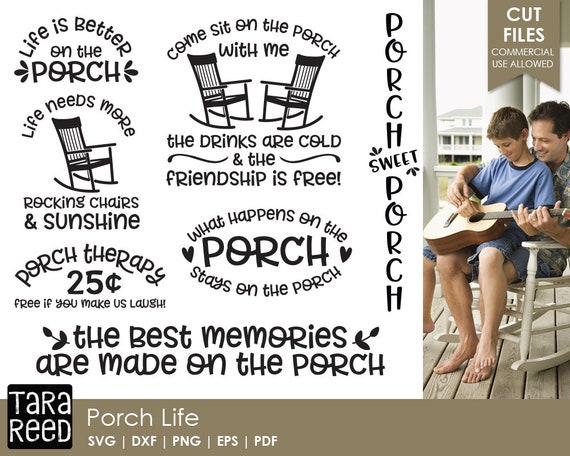 Porch Life Front Porch Svg And Cut Files For Crafters Etsy