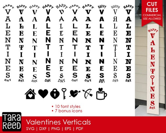 Valentines Day Vertical Signs Valentines Svg Files For Etsy