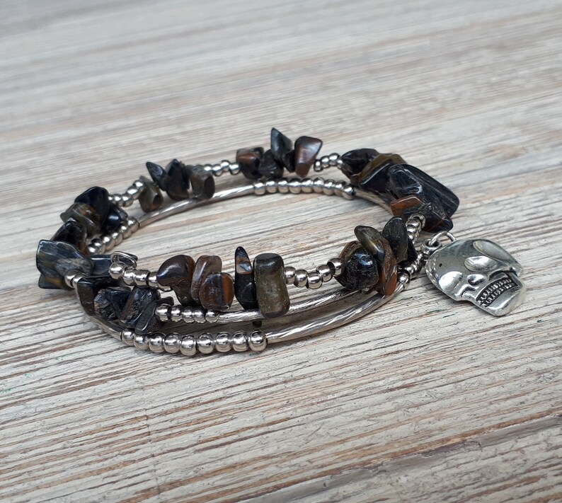 Healing Bracelet Gift for Her Him Good Luck Bracelet Anxiety Bracelet Tigers Eye Bracelet Spiritual Men gift Yoga Meditation Bracelet