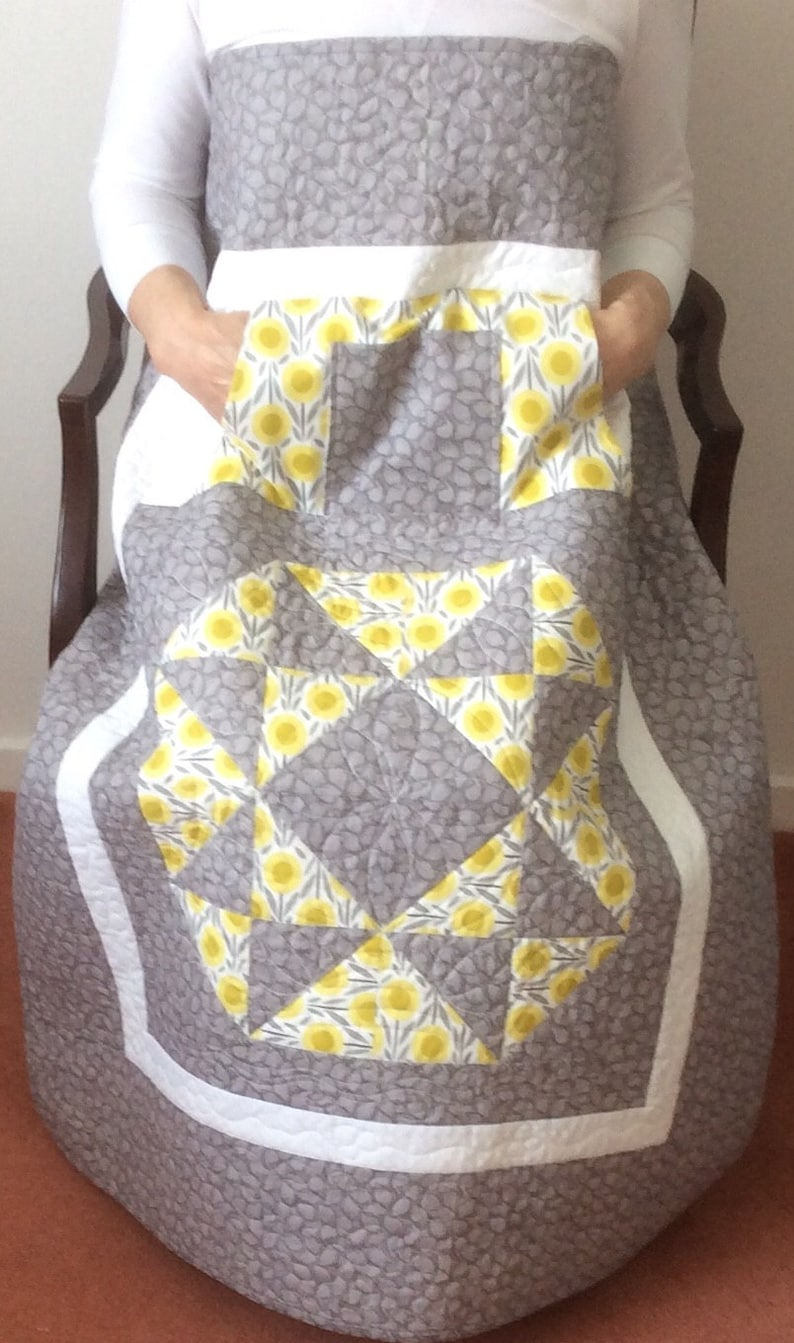 Lap Quilt with Pockets.