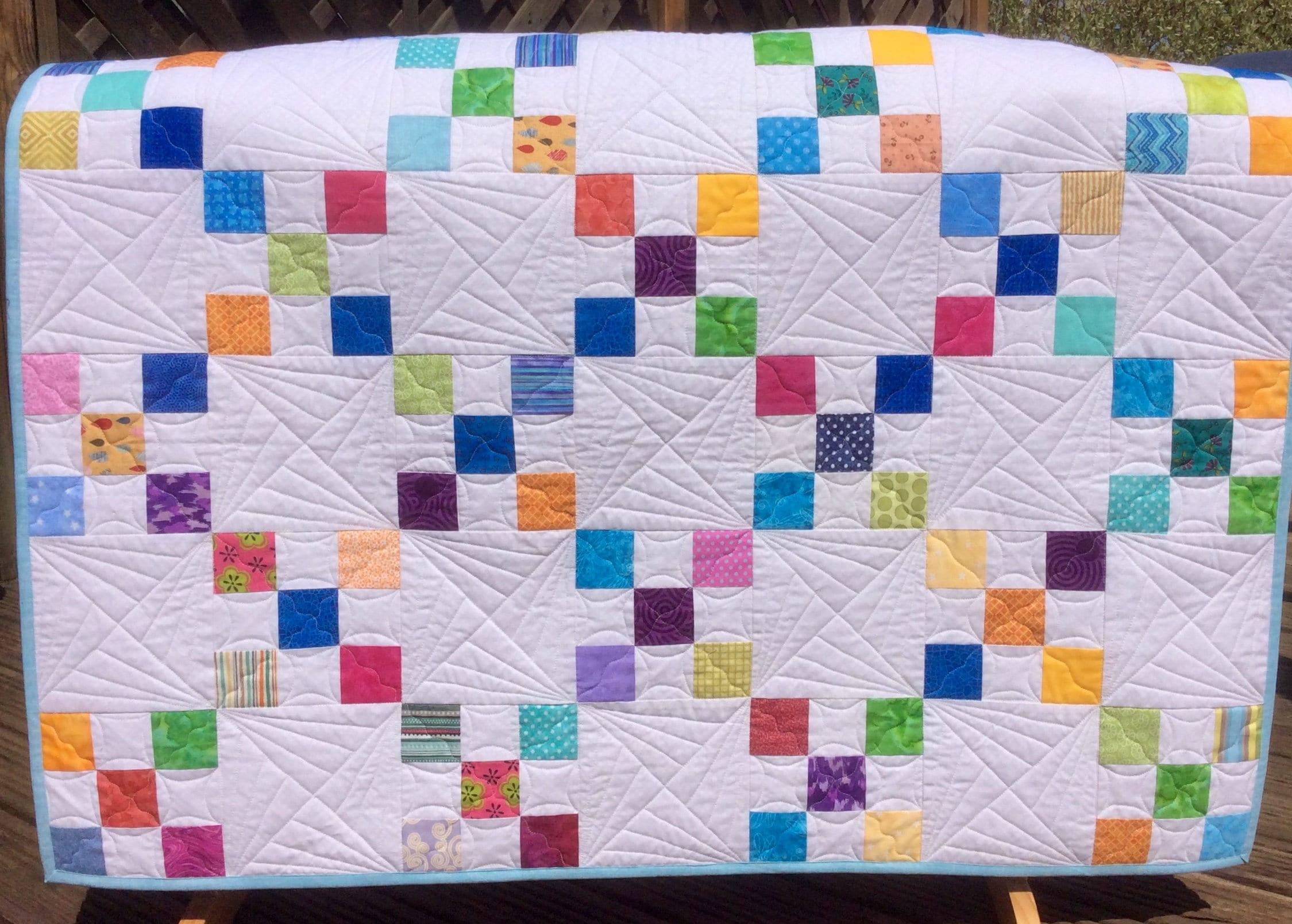 Handmade Irish Chain Baby Quilt Baby Shower Baby Blanket Baby Gift