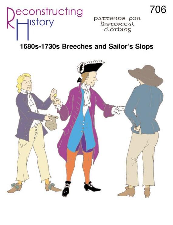 1700 RH706 de 1670-s 1730 de calzones y Slops reconstruir   Etsy