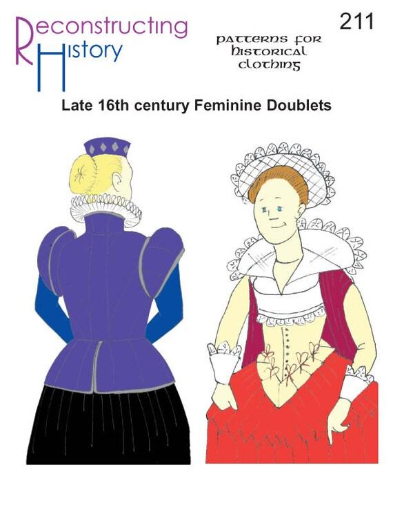 Doblete isabelina coser patrones de puntada jubón femenino | Etsy