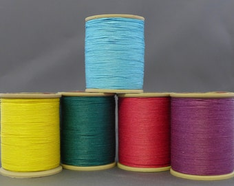 Fil Au Chinois Linen Cable Extra Glace thread (Waxed Lin Cable Extra)  0.7mm,  50g Spools (approx 250m)