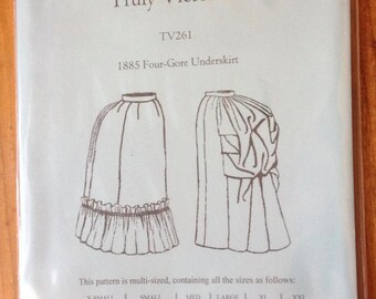 1885 Four-Gore Underskirt TV261, Victorian, Sewing Pattern