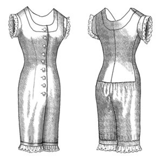 Victorian Combination Sewing Pattern by Truly Victorian | Etsy