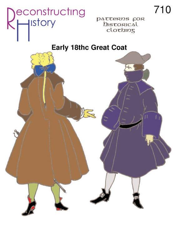 RH710 Early 18th Century Great Coat 17th century Mens Coat | Etsy
