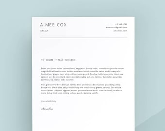simple cover letter template cover letter letterhead word template simple cover letter instant download matching resume available
