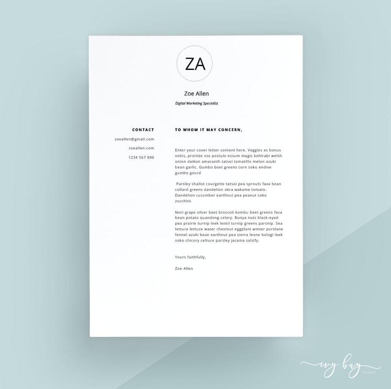 Modern Cover Letter Template Letterhead Word