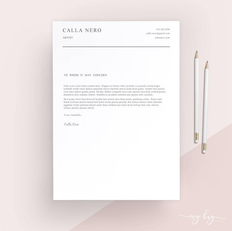 Simple Cover Letter Template Cover Letter Letterhead Word