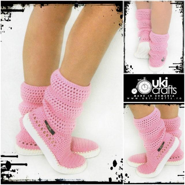 Boots Crochet Crochet Strick Schuhe Outdoor-Stiefel für die | Etsy