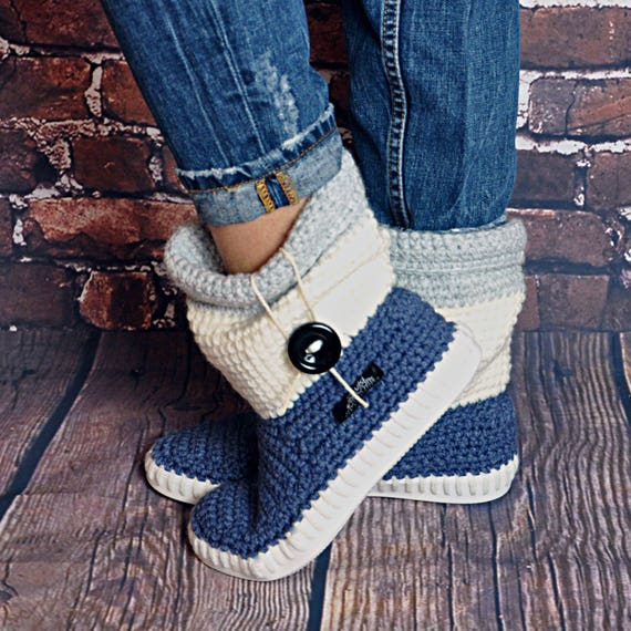 Häkeln Stiefel für die Straße Folk Tribal Stiefel Boho 3 | Etsy