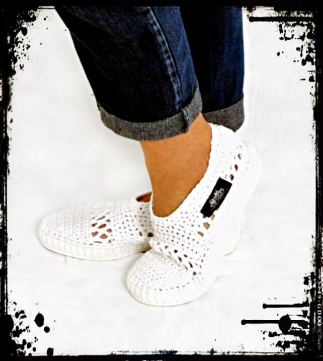 Botas al aire libre Crochet Crochet Botas Zapatos de punto | Etsy