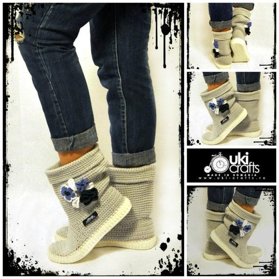 Häkeln Stiefel häkeln gestrickt Erwachsenen Outdoor Schuhe für | Etsy