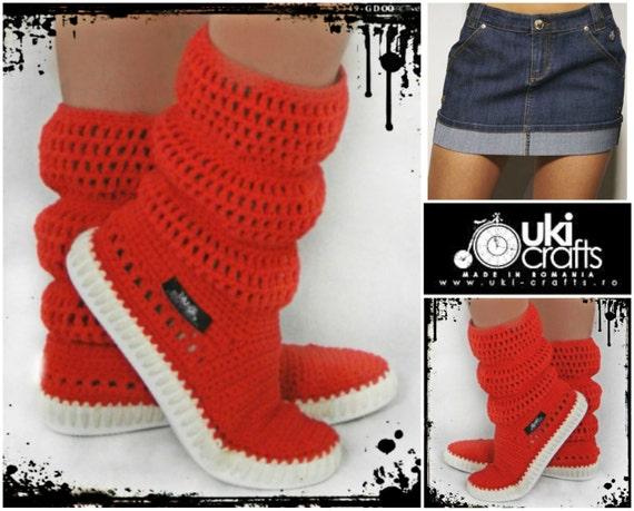 Crochet Crochet Stiefel Gestrickte Schuhe für Erwachsene im | Etsy