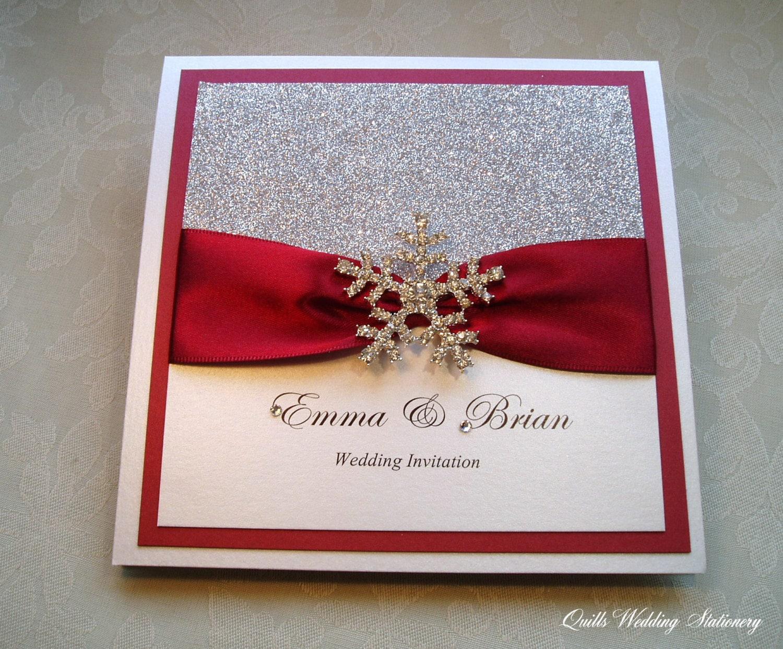 Frost. Snowflake Invitation. Winter Wedding. Wedding | Etsy
