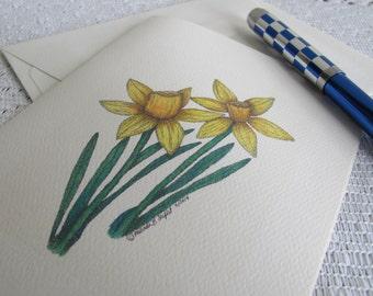 snowdrop primrose pretty original Valentine/'s Galentine  Mother/'s Day Spring flower ballpoint pen handmade in polymer clay daffodil