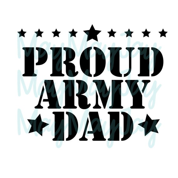 Proud Army Dad Svg Png Dxf Jpg Files Etsy