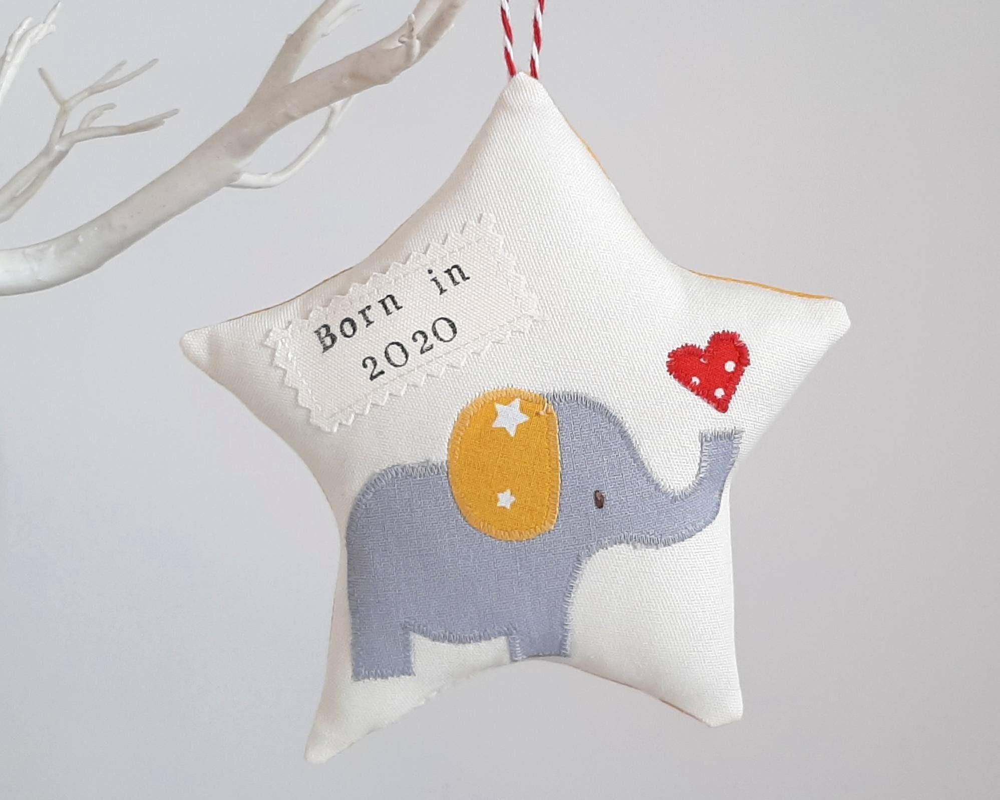 2020 star gift babygift Born In 2020,Hanging Star Decoration baby shower gift