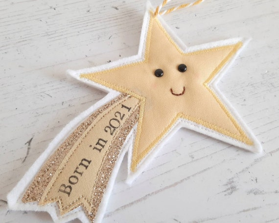 Born in 2021 Shooting Star New Baby gift