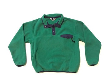 7ab2268334ff78 Vintage Green Fleece Pullover