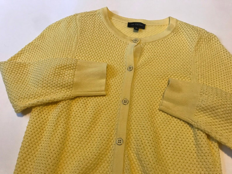 Vintage Yellow The Limited Cardigan Button Up Sweater
