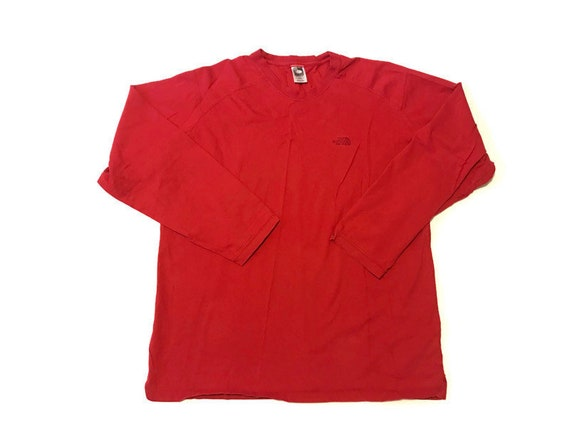 Vintage Red Long Sleeve North Face Long Sleeve Tee