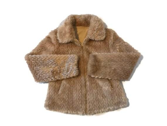 Vintage White Stag Reversible Fur Jacket