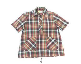 1970s Vintage Plaid Shirt