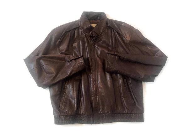 Vintage Men's Brown Georgetown Leather Jacket