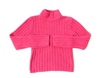 Vintage Pink Fuzzy Pullover Sweater