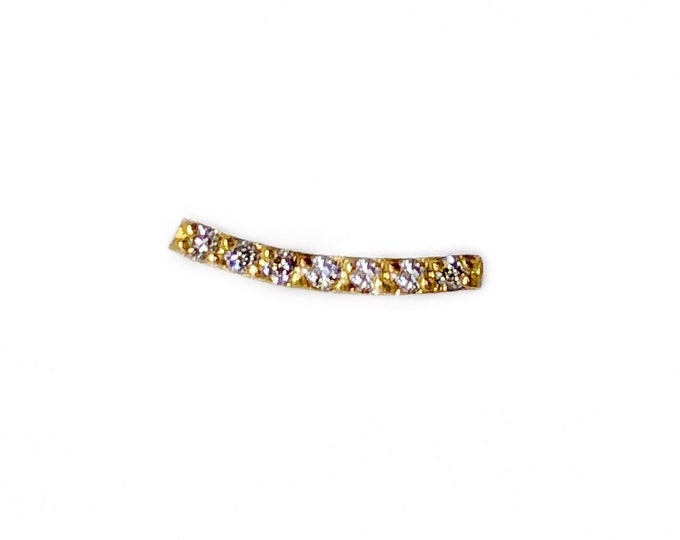 Diamond Curved-Bar Stud
