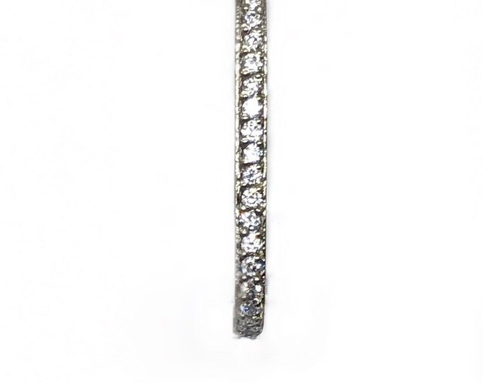 Diamond J-Curve Bar Earring