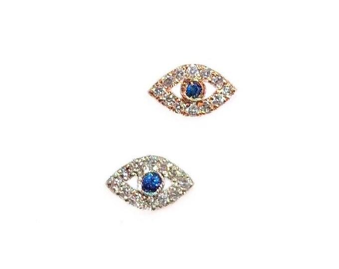 Tiny Diamond Evil Eye