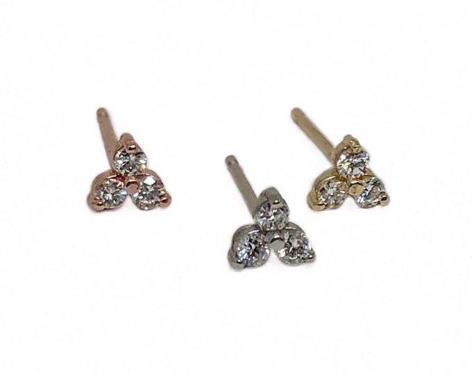 Tiny Diamond Trio Stud