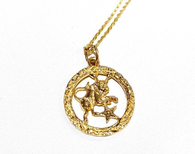 Zodiac Coins in 14k Gold