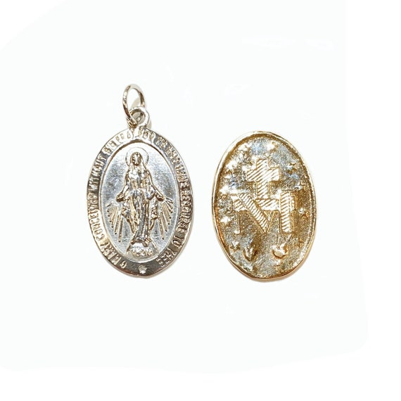 Miraculous Mary Medallion in 14k Gold