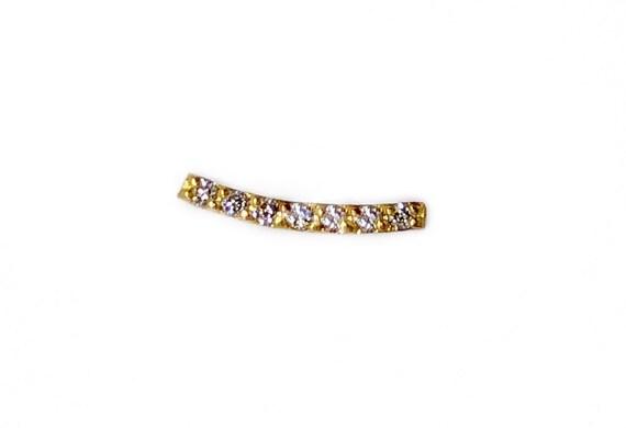 Diamond Curved-Bar Stud