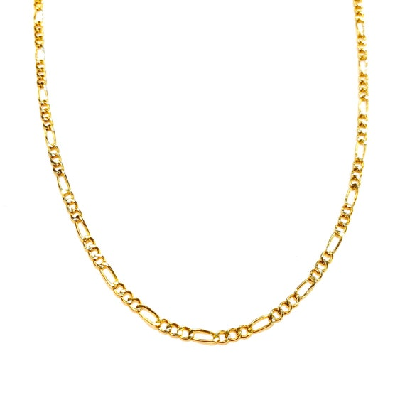Figaro Link Chain in 14k Gold