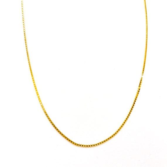 Classic Box Chain in 14k Gold