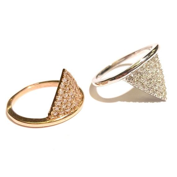 Diamond Spike Ring in 14k Gold