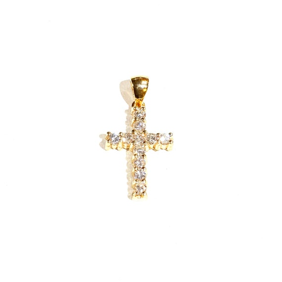 Diamond Christina Cross in 14k Gold