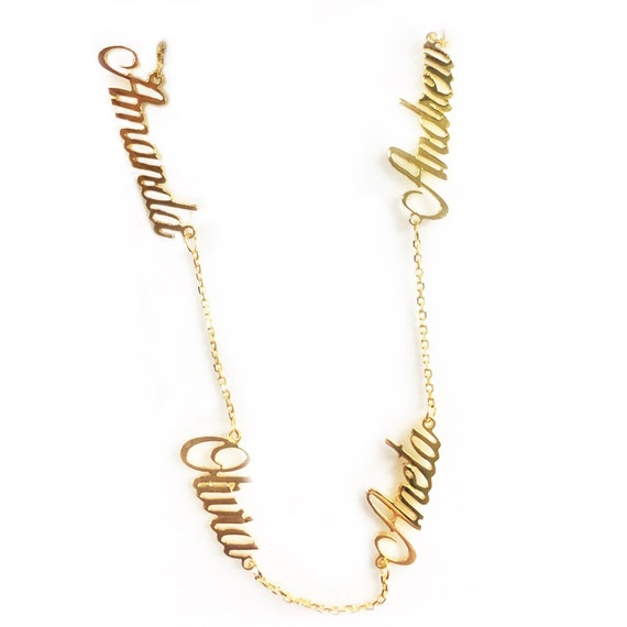 Multi-Name Plate Necklace