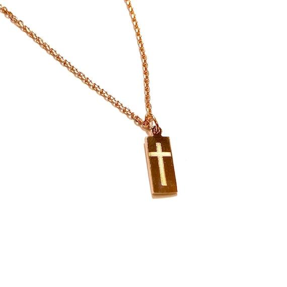 Cross Bar Charm in 14k Gold